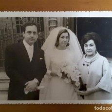 Fotografía antigua: FOTO ANTIGUA DE BODA - FOT. VAQUERO (MADRID). Lote 116945167