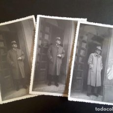 Fotografía antigua: LOTE FOTOS ANTIGUAS - CABALLERO EN LA PUERTA - MARZO 1956. Lote 117382735