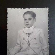 Fotografía antigua: FOGRAFÍA NIÑO COMUNIÓN. Lote 117383495