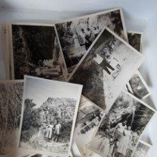 Fotografía antigua: LOTE DE 18 FOTOGRAFÍAS, AÑOS 50, PARAJE CON SALTO DE AGUA, FUENTE... PROV. ALICANTE O VALENCIA?. Lote 117817602