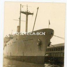 Fotografía antigua: FOTO ORIGINAL PUERTO DE BARCELONA BARCO DE GUERRA PVT H THOMAS US NAVY AÑOS 50/60. Lote 118544811