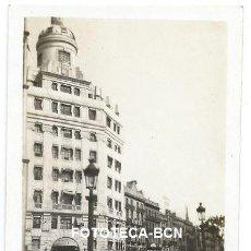 Fotografía antigua: FOTO ORIGINAL BARCELONA PL CATALUNYA PORTAL DE L'ANGEL COCHE TRANVIA AÑOS 20/30. Lote 118834783