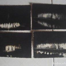 Fotografía antigua: MARRUECOS. REPRESENTACIÓN NOCTURNA DEL AHWASH, ESPECTÁCULO TÍPICO DEL SUR. AÑOS 60. 4 FOTOS. . Lote 119437851