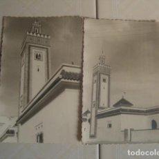 Fotografía antigua: MARRUECOS. MINARETE DE LA MEZQUITA DE LOS ANDALUCES EN FEZ. ENERO DE 1964. 2 FOTOS. . Lote 119438111