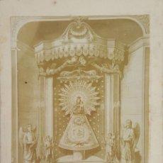 Fotografía antigua: FOTOGRAFÍA DE GRABADO DE NUESTRA SEÑORA DEL PILAR. ZARAGOZA. SIGLO XX. . Lote 119631103