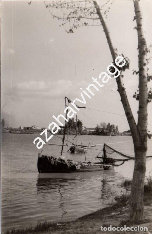 SEVILLA, 1966, EL RIO GUADALQUIVIR A SU PASO POR CORIA DEL RIO, 90X140MM (Fotografía Antigua - Fotomecánica)