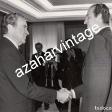 Fotografía antigua: MADRID, 1980, EL REY DON JUAN CARLOS Y RICHARD NIXON, 240X180MM. Lote 119901771