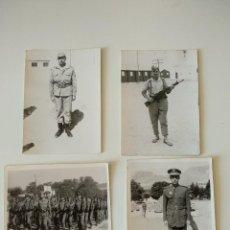 Fotografía antigua: LOTE 4 FOTOGRAFIAS ANTIGUAS DE TEMATICA MILITAR. Lote 119935423