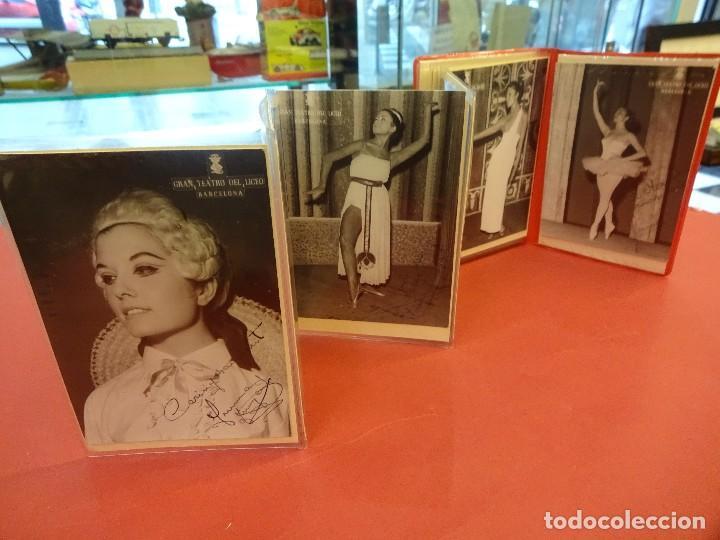 Carpeta con fotos de BAILARINA O ARTISTA. Gran Teatro del Liceo. Barcelona. Años 50s. Alguna firmada, usado segunda mano