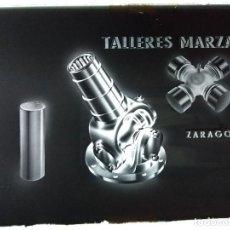 Fotografía antigua: TALLERES MARZAL ZARAGOZA PUBLICIDAD ANTIGUO NEGATIVO EN CRISTAL. Lote 120154659