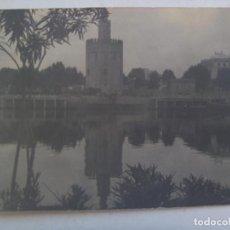 Fotografía antigua: FOTO ANTIGUA DE SEVILLA : TORRE DEL ORO Y RIO GUADALQUIVIR ... 12 X 17 CM. Lote 120158979