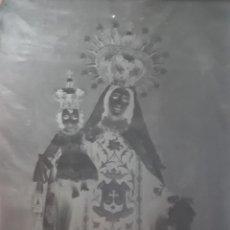 Fotografía antigua: ANTIGUO CLICHÉ DE LA VIRGEN DEL CARMEN DE LOS PADRES CARMELITAS DE ZARAGOZA NEGATIVO EN CRISTAL. Lote 120464499