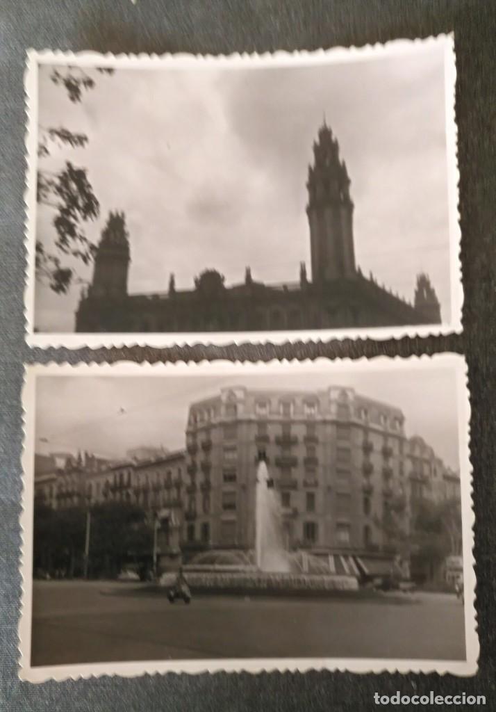 FT 14 LOTE 2 ANTIGUAS FOTOGRAFÍAS EDIFICIOS DE BARCELONA - PRINCIPIOS AÑOS 50 - 7CM X 10CM (Fotografía Antigua - Fotomecánica)