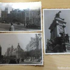 Fotografía antigua: FT 15 LOTE 3 ANTIGUAS FOTOGRAFÍAS INSTANTÁNEAS MADRID - PRINCIPIOS AÑOS 50 - 7CM X 10CM. Lote 120563763