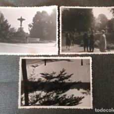 Fotografía antigua: FT 16 LOTE 3 ANTIGUAS FOTOGRAFÍAS INSTANTÁNEAS PARQUE DEL RETIRO - PRINCIPIOS AÑOS 50 - 7CM X 10CM. Lote 120565203