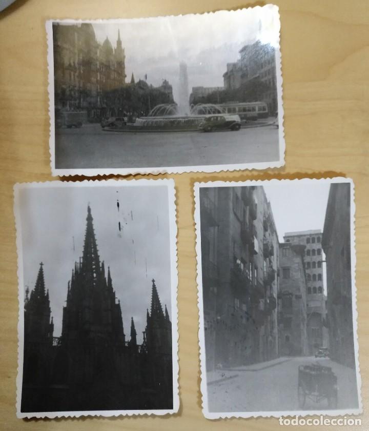 FT 20 LOTE 3 ANTIGUAS FOTOGRAFÍAS INSTANTÁNEAS BARCELONA - PRINCIPIOS AÑOS 50 - 7CM X 10CM (Fotografía Antigua - Fotomecánica)