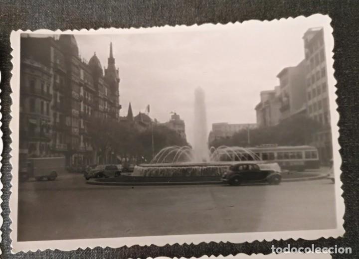 Fotografía antigua: FT 20 Lote 3 antiguas fotografías instantáneas Barcelona - principios años 50 - 7cm x 10cm - Foto 3 - 120568699