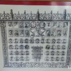 Fotografía antigua: ORLA DE LA FACULTAD DE MEDICINA DE LA UNIVERSIDAD DE SALAMANCA. PROMOCION 1943 - 1949. SIN MARCO. Lote 120722223