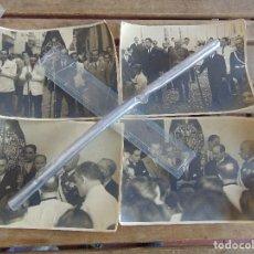 Fotografía antigua: 4 FOTOS HERMANDAD DE SAN ROQUE AÑOS 40 SEMANA SANTA DE SEVILLA EUSEBIO MENDOZA 23.5 X 17 CM. Lote 121109215
