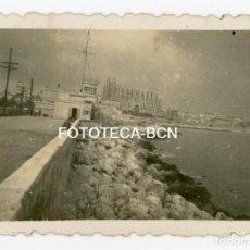 Fotografía antigua: FOTO ORIGINAL PALMA DE MALLORCA CATEDRAL PUERTO AÑOS 40. Lote 121351519