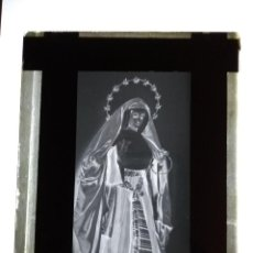 Fotografía antigua: SEVILLA ANTIGUO CLICHE EN VIDRIO NTRA SRA DE LA SOLEDAD PARROQUIA SAN LORENZO. Lote 121482331