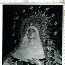 Fotografía antigua: FOTOGRAFÍA DE LA VIRGEN MADRE DE DIOS DE LA PALMA , SEMANA SANTA DE SEVILLA 18 X 24. Lote 121541783