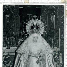 Fotografía antigua: FOTOGRAFÍA DE LA VIRGEN DEL ROCIO , SEMANA SANTA DE SEVILLA 18 X 24. Lote 121541863