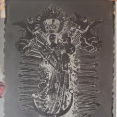 Fotografía antigua: ANTIGUO CLICHÉ DE LA REINA DE LOS ÁNGELES ALAJAR HUELVA NEGATIVO EN CRISTAL. Lote 121561539