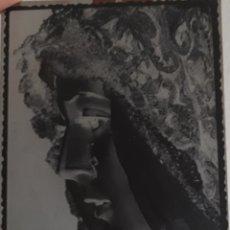 Fotografía antigua: ANTIGUO CLICHÉ DE NUESTRA SEÑORA DE LA ESPERANZA MACARENA SEVILLA NEGATIVO EN CRISTAL. Lote 121674679
