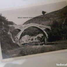 Fotografía antigua: PUENTE DE LA RIERA DE SALLENT FOTO ANTIGUA ORIGINAL AÑO 1947. Lote 121735167