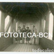 Fotografía antigua: FOTO ORIGINAL VALL DE NURIA INTERIOR DE LA PASARELA AÑOS 50/60. Lote 121735839