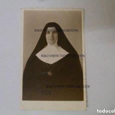 Fotografía antigua: MONJA EN LA HABANA CUBA FOTO EN PAPEL POSTAL ORIGINAL AÑO 1945. Lote 121737727