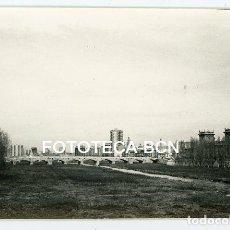 Fotografía antigua: FOTO ORIGINAL VALENCIA PUENTE DEL REAL RIO TURIA AÑOS 60. Lote 121874867