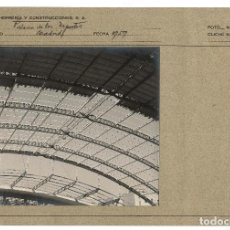 Fotografía antigua: MADRID.- CONSTRUCCIÓN PALACIO DEPORTES.1959. Lote 122204279