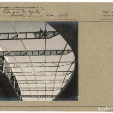 Fotografía antigua: MADRID.- CONSTRUCCIÓN PALACIO DEPORTES.1959. Lote 122204379