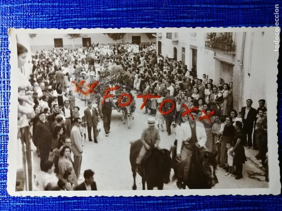 ANTIGUA FOTOGRAFÍA DE REQUENA.VALENCIA. FIESTAS. FOTO AÑOS 40. (Fotografía Antigua - Fotomecánica)