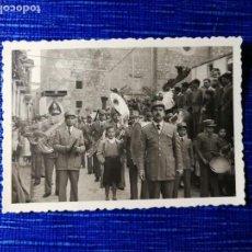 Fotografía antigua: ANTIGUA FOTOGRAFÍA. BANDA DE MÚSICA. LABORATORIO FOTOGRÁFICO ELBA JAÉN. FOTO AÑOS 40/50. FOTO.. Lote 122277803