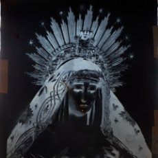 Fotografía antigua: ANTIGUO CLICHÉ DE LA VIRGEN DE LA SOLEDAD SEVILLA NEGATIVO EN CRISTAL. Lote 122315591