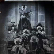 Fotografía antigua: ANTIGUO CLICHÉ DE LA CARROZA DE LA DIVINA PEREGRINA PONTEVEDRA NEGATIVO EN CRISTAL. Lote 122316299