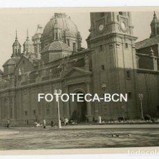 Fotografía antigua: FOTO ORIGINAL ZARAGOZA PLAZA DEL PILAR AÑOS 50. Lote 122570775