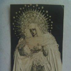 Fotografía antigua: SEMANA SANTA DE SEVILLA : FOTO DE VIRGEN DOLOROSA. Lote 122629655
