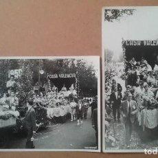 Fotografía antigua: BRANGULÍ FOTOGRAFÍA DESFILE CARROZA FALLERA MAYOR CASA VALENCIA EN BARCELONA AÑO 1959. Lote 123238407