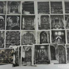 Fotografía antigua: COLECCIÓN DE 43 FOTOGRAFÍAS ARTISTICAS. ALTARES Y CLAUSTROS. FOTOS MAS. SIGLO XX.. Lote 123569187