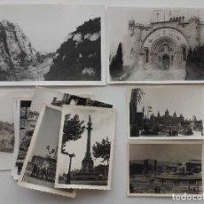 Fotografía antigua: LOTE 11 FOTOGRAFIAS BARCELONA, TIBIDABO, MONTSERRAT. Lote 124861439