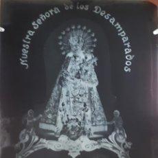 Fotografía antigua: ANTIGUO CLICHÉ DE N. S. D. LOS DESAMPARADOS SANTO GRIAL S. VICENTE FERRER VALENCIA NEGATIVO CRISTAL. Lote 125170351