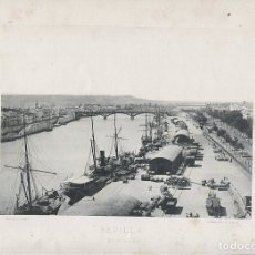 Fotografía antigua: FOTOGRAFIA LOTE 7 FOTOTIPIAS ORIGINALES SEVILLA HAUSER Y MENET AÑOS 1891 Y 1892 SIGLO XIX. Lote 125174407
