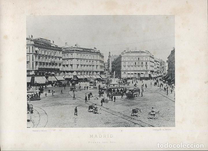 FOTOGRAFIA LOTE 4 FOTOTIPIAS ORIGINALES MADRID HAUSER Y MENET AÑOS 1891 Y 1892 SIGLO XIX (Fotografía Antigua - Fotomecánica)