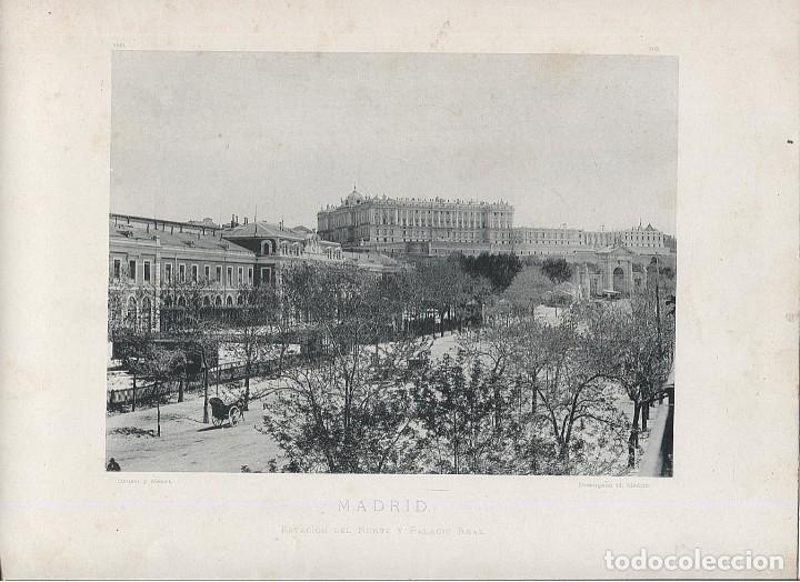 Fotografía antigua: FOTOGRAFIA LOTE 4 FOTOTIPIAS ORIGINALES MADRID HAUSER Y MENET AÑOS 1891 Y 1892 SIGLO XIX - Foto 2 - 125174431