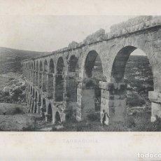 Fotografía antigua: FOTOGRAFIA LOTE 2 FOTOTIPIAS ORIGINALES TARRAGONA HAUSER Y MENET AÑOS 1891 Y 1892 SIGLO XIX. Lote 125174383