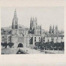 Fotografía antigua: FOTOGRAFÍA AÑO 1892 FOTOTIPIA ORIGINAL BURGOS HAUSER Y MENET AÑO SIGLO XIX. Lote 125175879